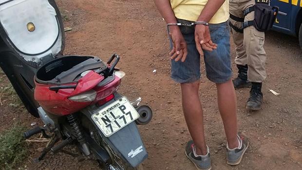 Jovem de 19 preso pela PRF | Divulgação/PRF