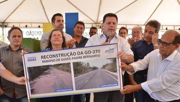 Marconi inaugura rodovia entrePadre Bernardo e Mimoso de Goiás