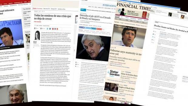 As prisões do líder do governo no Senado, Delcídio do Amaral, e do banqueiro André Esteves repercutiu hoje na imprensa internacionalAgência Brasil