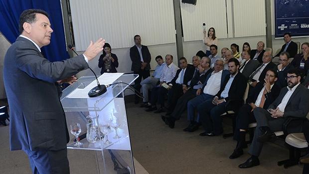 Marconi Perillo durante evento sobre logística e infraestrutura, em Anápolis | Divulgação/Governo de Goiás