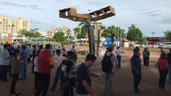 Movimentação na Praça do Avião