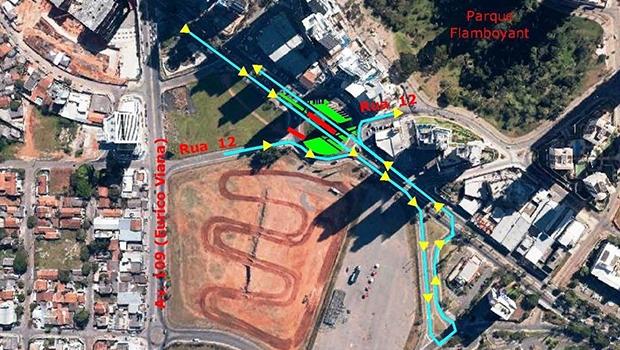 Tráfego na pista central da Avenida Jamel Cecílio é liberado | Foto: SMT