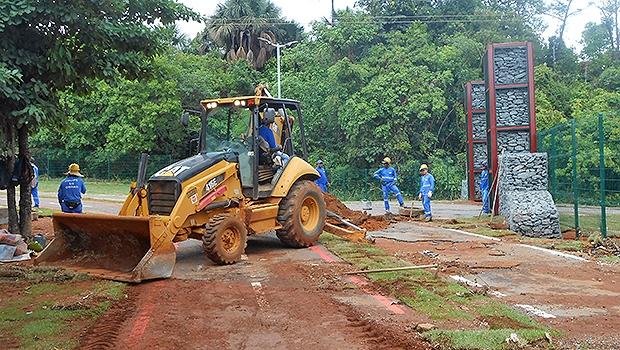 Consórcio de empresas executa obras de reparo no Parque Ambiental Macambira | Prefeitura de Goiânia