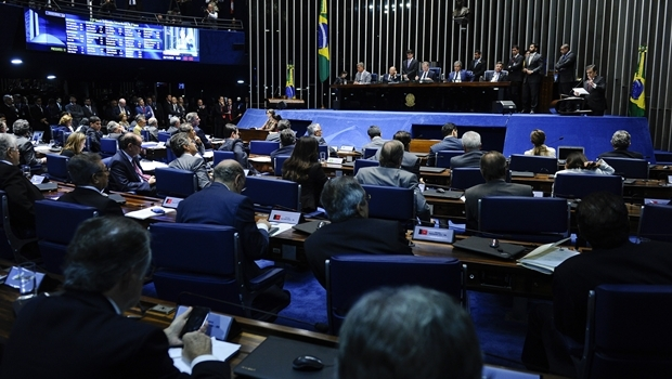 Senado Federal na noite desta quarta-feira | Foto: Marcos Oliveira