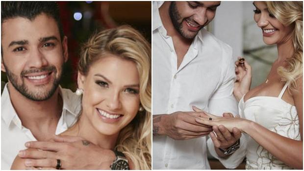 Gusttavo Lima se casa de surpresa em Goiânia