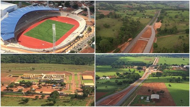 Marconi vistoria cinco grandes obras em Goiânia e no interior