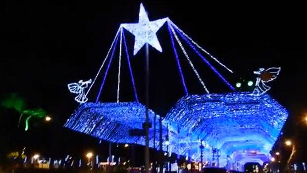 Luzes de Natal na Praça Tamandaré serão ligadas nessa terça-feira (8)   Reprodução/YouTube
