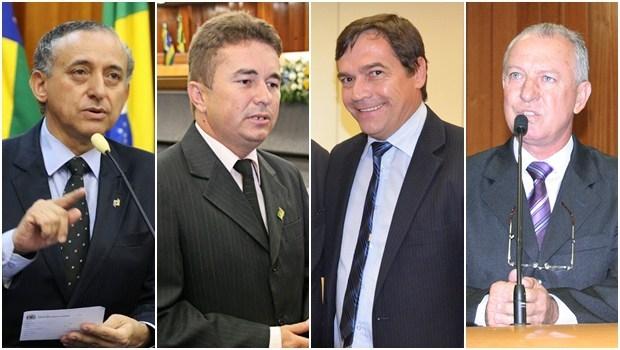 Vereadores Anselmo Pereira, Richard Nixon, Eudes Vigor e Milton Mercêz   Fotos: Câmara Municipal de Goiânia