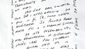 Reprodução da carta com ameaça enviada ao presidente do Tribunal de Contas   Foto: Valter Campanato/Agência Brasil