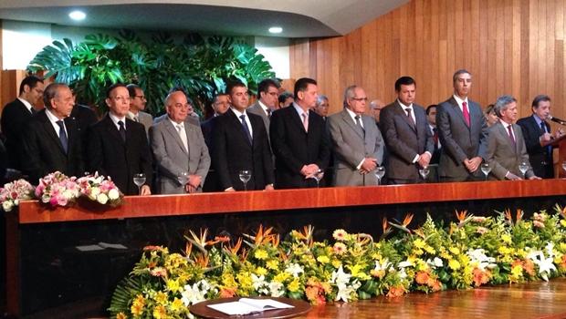 Autoridades prestigiam solenidade de posse da nova diretoria da Asmego | Foto: Gabinete de Imprensa