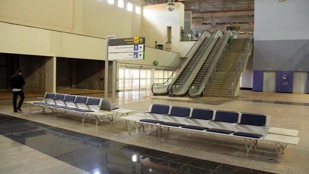 Vista interna do novo aeroporto | Foto: Reprodução / Secom