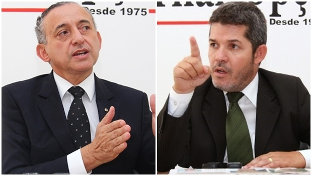 Anselmo Pereira e Delegado Waldir   Montagem/Jornal Opção