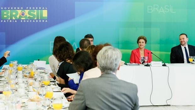 Presidente Dilma durante café da manhã nesta quinta (7/1) | Foto: Ichiro Guerra/PR