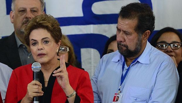 Presidente Dilma no encontro do PDT: sem admitir culpa pela crise | Foto: Antonio Cruz/ABr