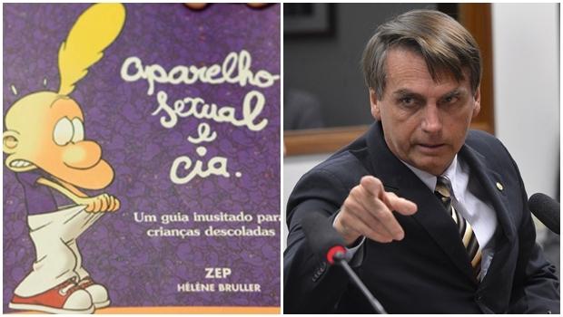 Deputado Federal Jair Bolsonaro criticou a o livro Aparelho Sexual e Cia | Foto: Reprodução Cia das Letras e Wilson Dias/ Agência Brasil