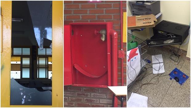 Imagens mostram colégio estadual depredado após desocupação