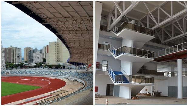 Fotos do Centro de Excelência do Esporte mostram obra em fase de conclusão