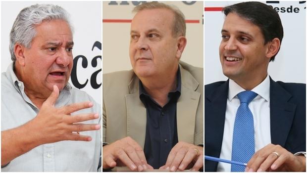 Vilmar Rocha, Paulo Garcia e Thiago Peixoto: alianças políticas devem ser pensadas para 2016 mas também para 2018