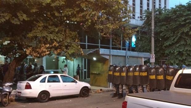 Protesto contra o aumento a tarifa de ônibus no centro de Goiânia | Foto: reprodução/assessoria