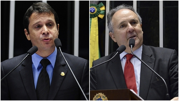 Senadores Reguffe e Cristovam Buarque deixaram o PDT pelo mesmo motivo | Fotos: Ana Volpe e Jefferson Rudy/Agência Senado