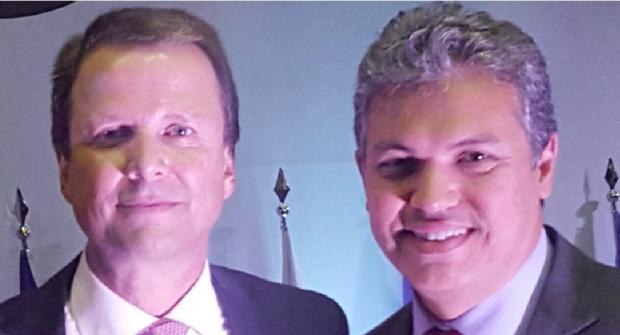 Cláudio Lamachia (Conselho Federal da OAB), com o advogado Márcio M. Cunha