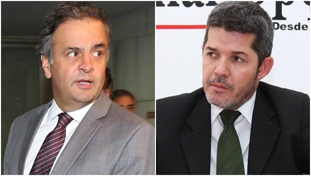 Presidente nacional do PSDB, Aécio Neves, e o deputado Delegado Waldir | Fotos: Lula Marques / Agência PT / Fernando Leite / Jornal Opção