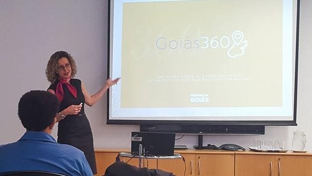 Secretária Ana Carla Abrão, durante apresentação em SP | Foto: reprodução