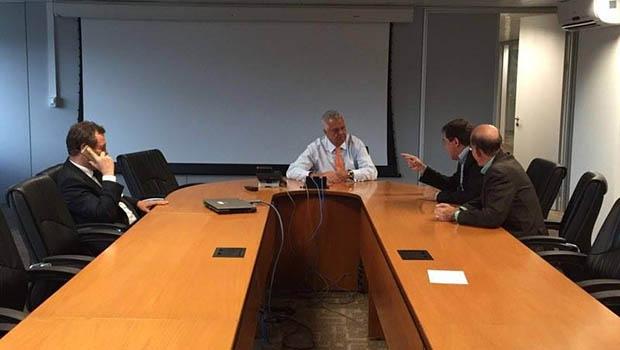 João Gomes se reuniu com diretor da ANTT, Jorge Luiz Bastos: na agenda, obras na BR-060 em Anápolis