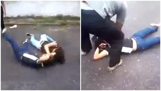 Adolescente sofre convulsão após briga na escola. Vídeo choca internautas