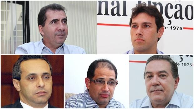 João Gomes pode tentar reeleição com um peemedebista na vice; Fernando Cunha, Frei Valdair, Elismar Veiga e Ernani de Paula: nomes já definidos como pré-candidatos a prefeito