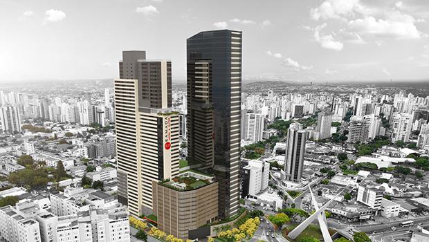 Maquete do Nexus Shopping & Business: empreendimento vai ocupar mais de 100 mil metros quadrados | Foto: Divulgação