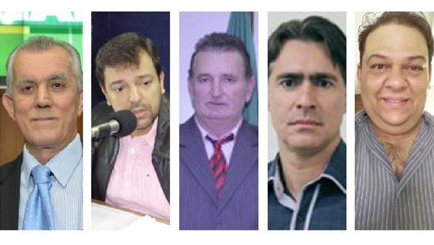 Victor Priori, Vinicius Luz, Carlos Miranda, Tales Machado e Vinicius Maia: cinco políticos com chances de disputar a Prefeitura de Jataí em outubro
