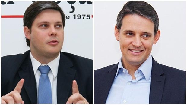 Presidente metropolitano do PSDB, Rafael Lousa, e secretário estadual Thiago Peixoto