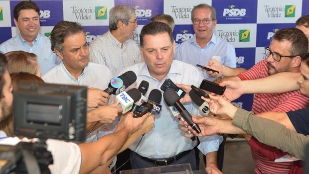 Governador Marconi Perillo (PSDB) afirmou que enquanto comandava o policiamento em Caldas Novas, nenhuma crítica foi feita ao trabalho do tenente-coronel Ricardo Rocha | Foto: André Costa/Jornal Opção