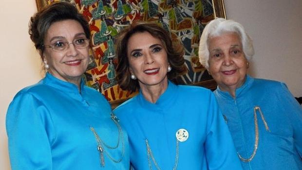 Presidente da Aflag, Maria Elizabeth Fleury Teixeira; secretária Raquel Teixeira; e a musicista Maria Lucy Veiga Teixeira   Foto: reprodução / Facebook