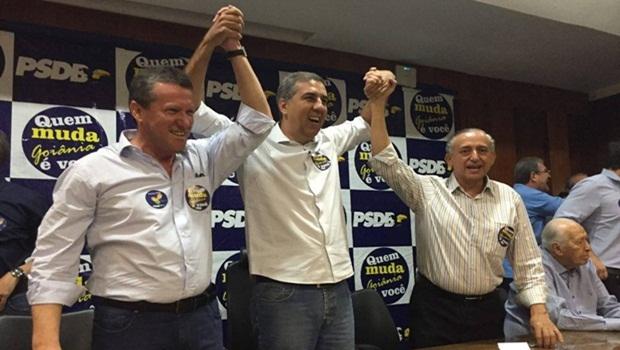 Anselmo e Vecci foram recebidos com festa pela militância do partido | Foto: Marcelo Gouveia