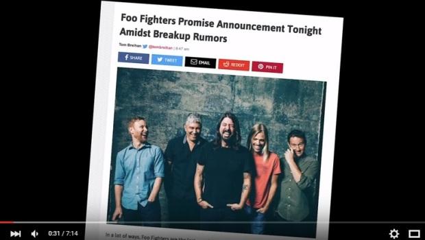 Depois de avalanche de notícias sobre fim do Foo Fighters, banda faz anúncio oficial