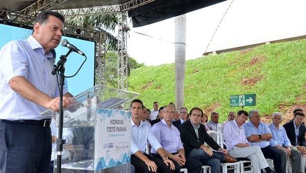 Governador anuncia volta da navegação na hidrovia Paranaíba-Tietê-Paraná