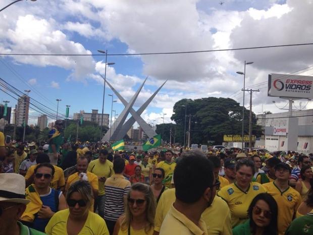 Protesto em Goiânia em 13 de março de 2016 foto 2