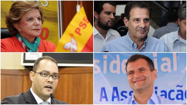 Lúcia Vânia, Vanderlan Cardoso, Marcos Abrão e Virmondes Cruvinel: um dos deles pode ser candidato a governador de Goiás em 2018 pela coligação PSB-PPS. Blefe? Pode não ser