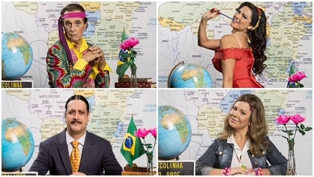 Um respeitável elenco, que passa por Marcos Caruso, Ellen Rocche, Lúcio Mauro Filho e Fernanda Souza, revive, com maior ou menor competência, uma seleção de clássicos personagens da TV   Fotos: reprodução