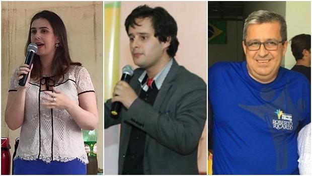 Priscilla Tejota, Valério Luiz e Roberto Ricardo | Fotos: reprodução / Facebook