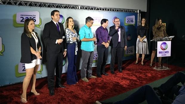 Equipe de jornalismo da Record Goiás | Foto: Alexandre Parrode