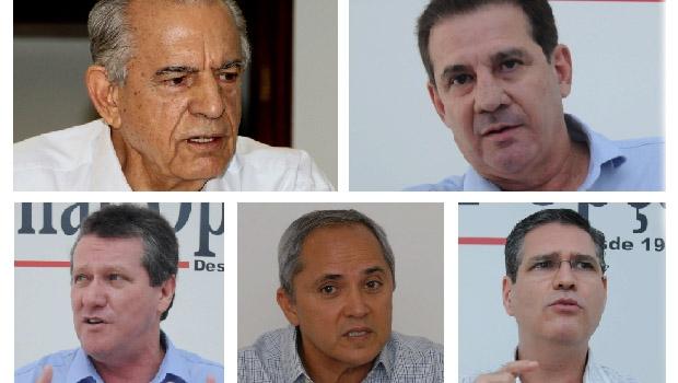 Iris Rezende, Vanderlan Cardoso, Giuseppe Vecci, Luiz Bittencourt e Francisco Júnior: político que é gestor tem mais chance de ser eleito em Goiânia