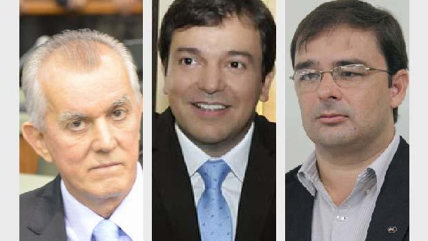 Victor Priori, do DEM, Vinicius Luz, do PSDB, e Geneilton Filho, do PMDB, são os três principais postulantes à Prefeitura de Jataí