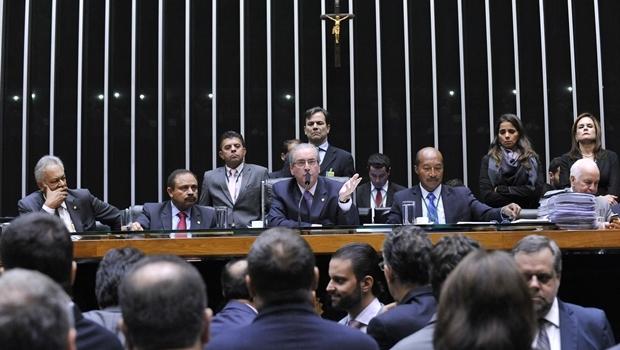 Presidente da Câmara, Eduardo Cunha (PMDB-RJ) iniciará a sessão de domingo (17/4) às 14 horas   Foto: Luis Macedo/Câmara dos Deputados