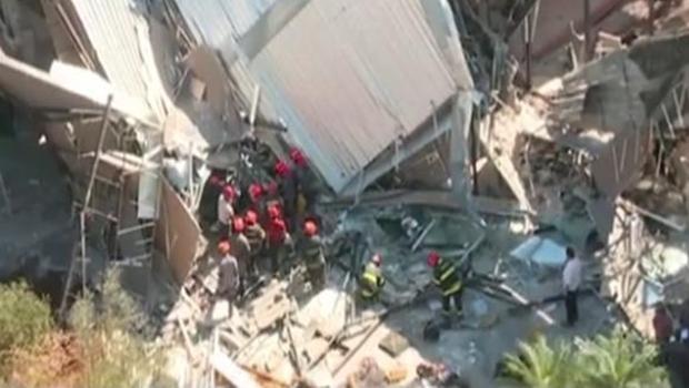 Bombeiros já encerraram o trabalho de resgate no local | Foto: Reprodução/TV