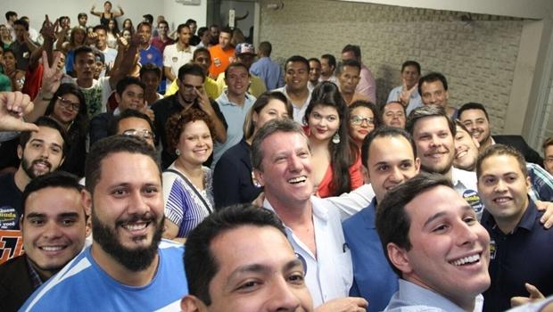 Deputado federal Giuseppe Vecci (PSDB), que é pré-candidato a prefeito de Goiânia, pediu à Juventude do partido que o ajude a formular propostas para a cidade | Foto: Divulgação