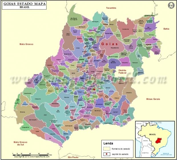 Mapa de Goiás dois goias-mapa