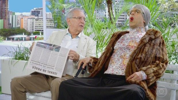 """Globo faz paródia de """"A Praça é Nossa"""" com o próprio Carlos Alberto de Nóbrega"""